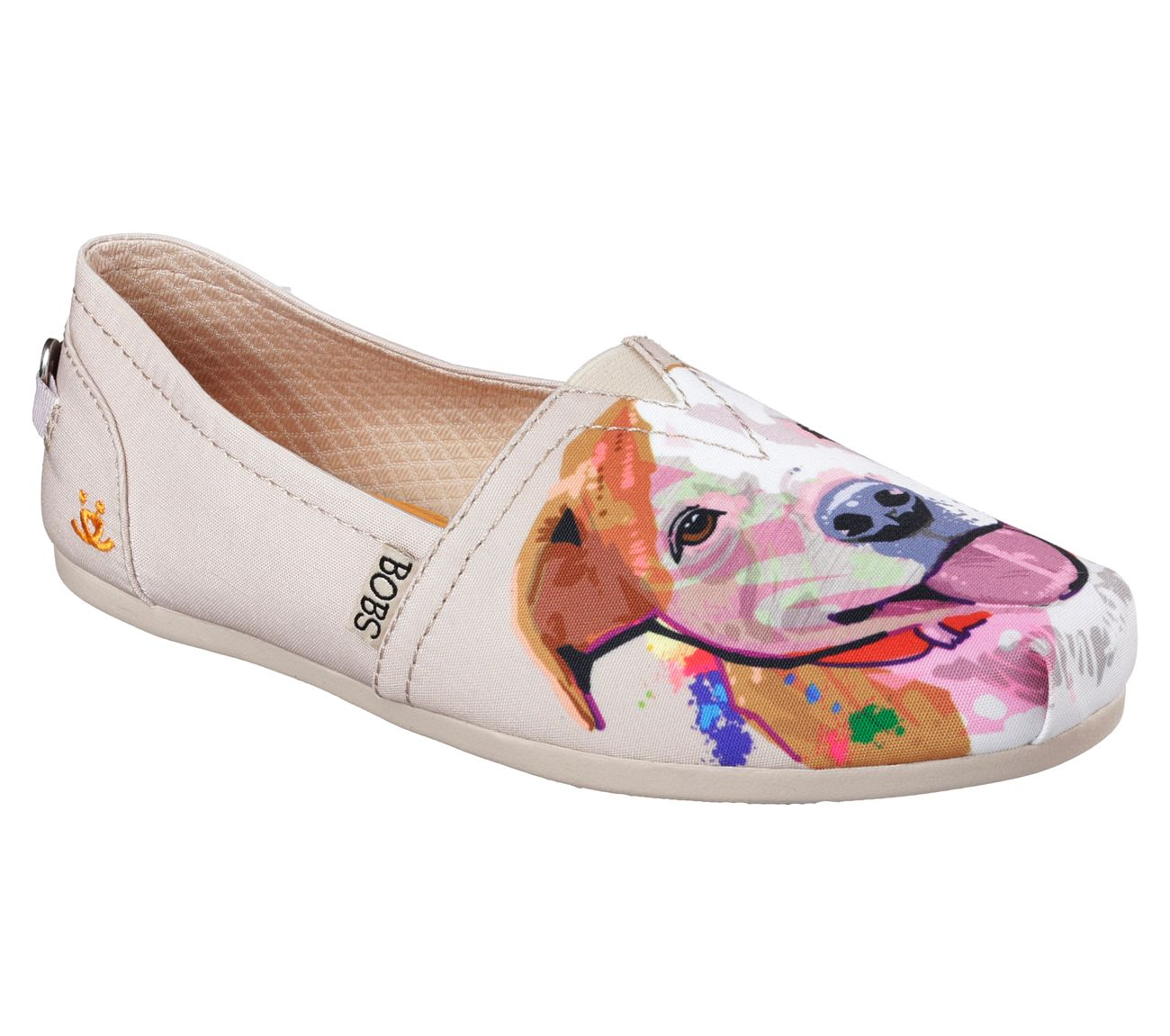 Womens Slip On Shoe With Dog Print