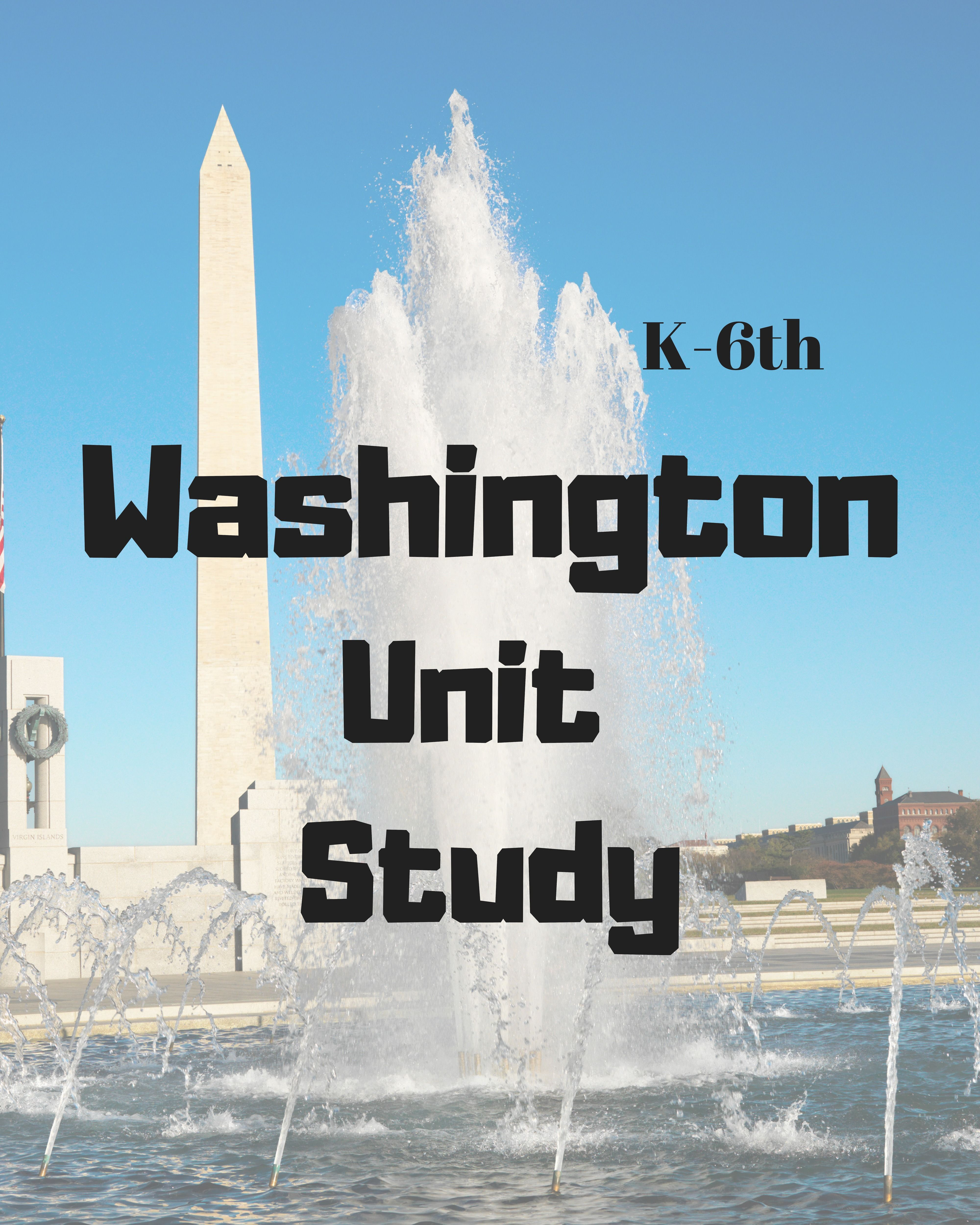 This Homeschool State Of Washington Unit Study Touches On