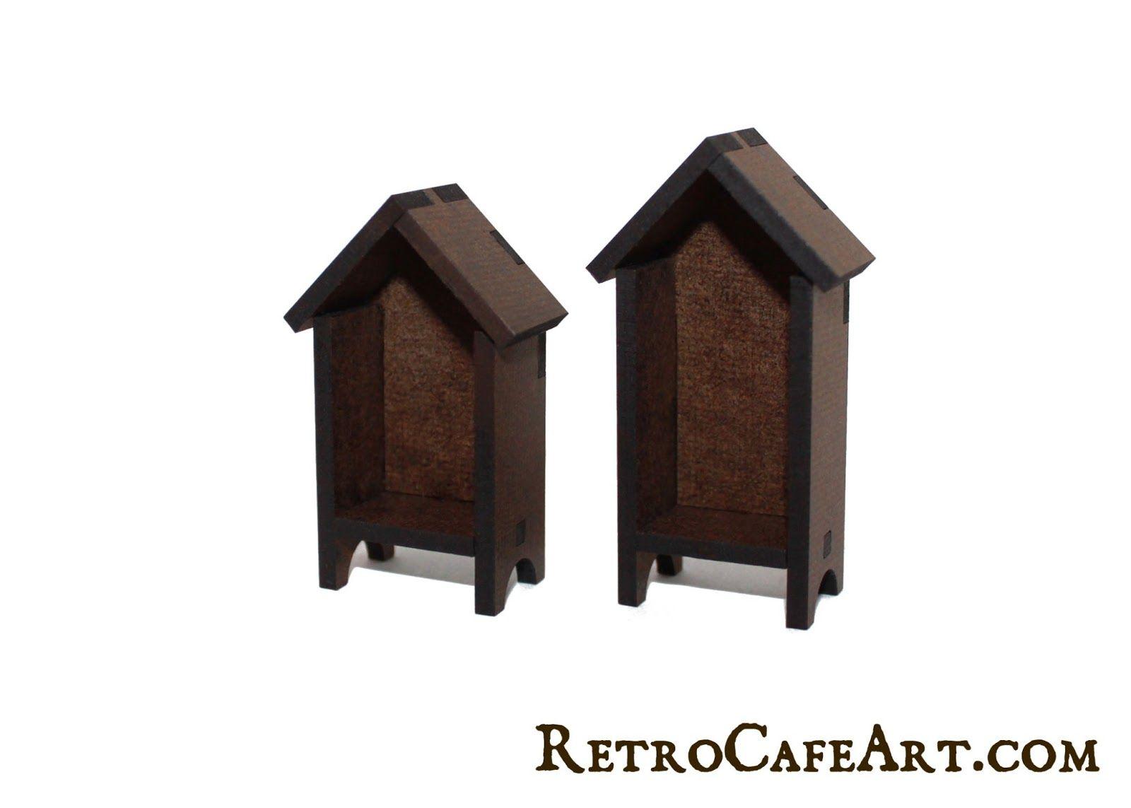 Mini House Hutch Shrine Kits from www.RetroCafeArt.com