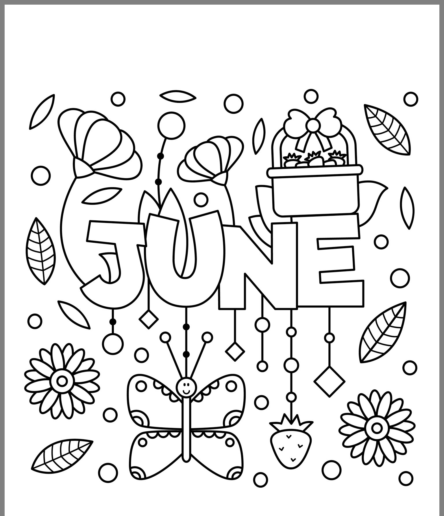 Pin by Dottie Madden on misc Summer coloring pages, Fall