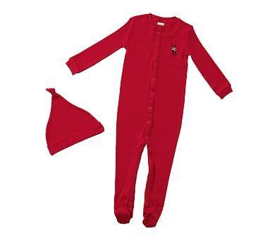 Reindeer One Piece Pajama Amp Hat Set One Piece Pajamas