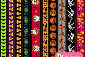 Free Printable Halloween Washi Tapes