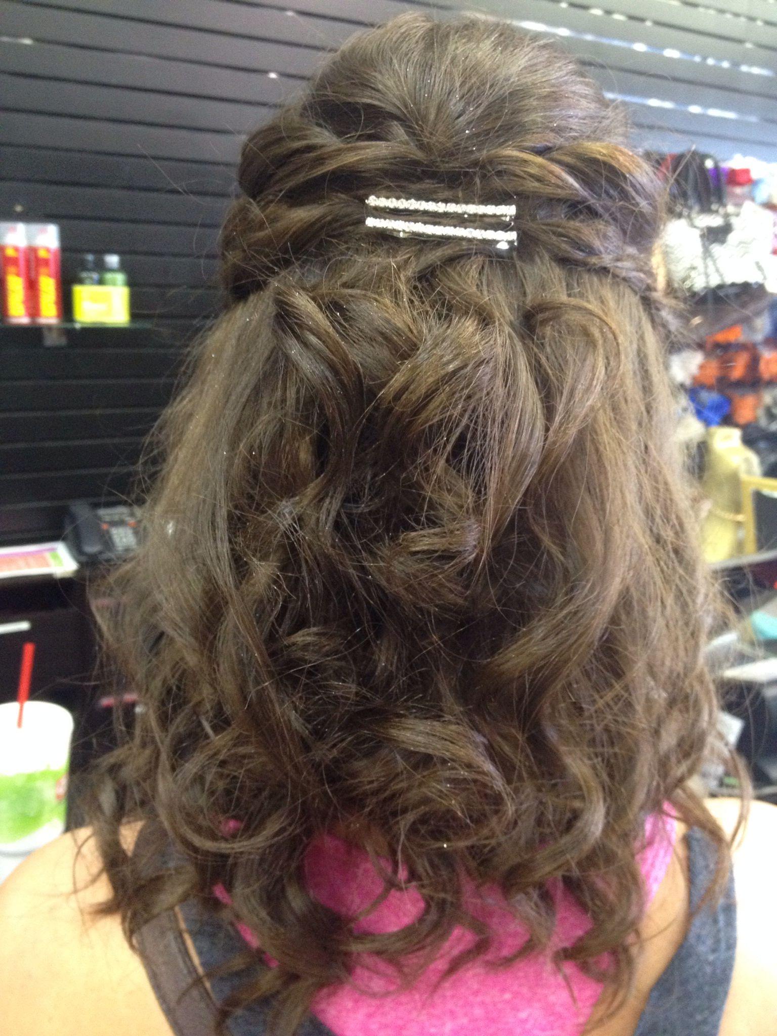 Half up prom hair for medium length hair   Medium length ...