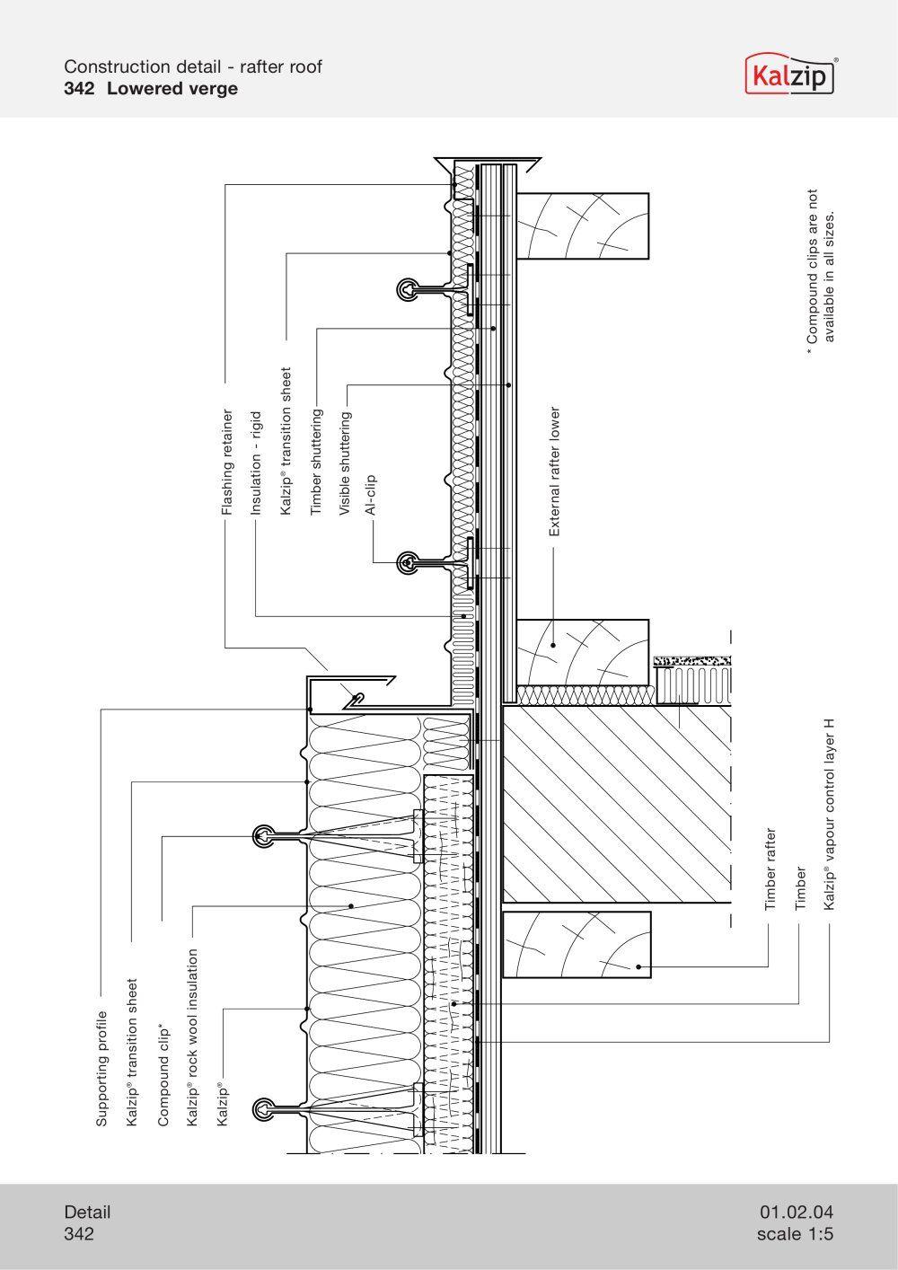 Kalzip Construction Details Construction Detail Roof Construction