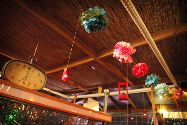 DIY Paper Flower Wedding Ceiling Decorations