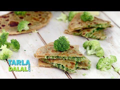 Broccoli And Cheese Parathas By Tarla Dalal Paratha Recipes Broccoli And Cheese Paratha
