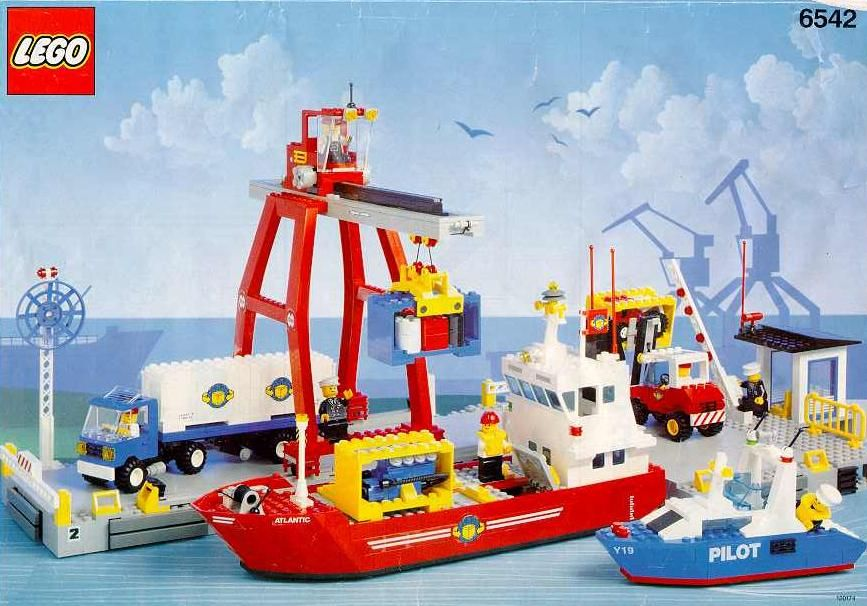 Lego Dock Crane and Cargo Ship [6542] | Legos | Pinterest | Legos ...