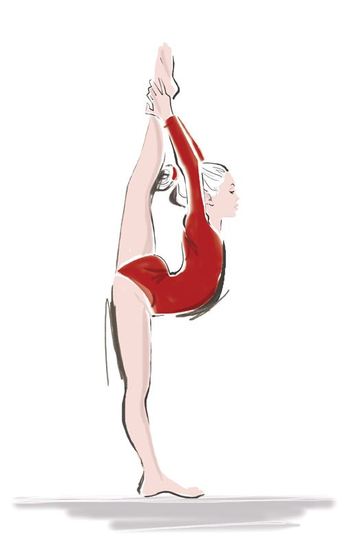 Gymnastics Illustration Dancing Drawings Dancers Art Cartoon Girl Drawing