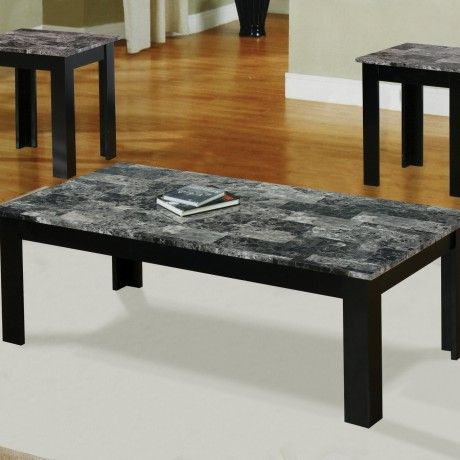 Admirable Coffee Table With Grey Marble Top And Wood Frame With
