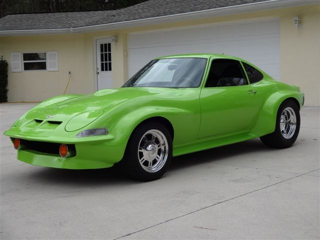 1972 Opel Gt 72 Opel Gt Custom Wide Body Lambo Green Opel