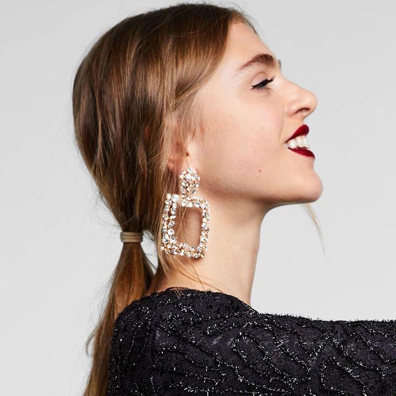 Fashion Crystal Flower Drop Dangle Boucles d/'oreilles Pour Femmes Mariage Fête Bijoux