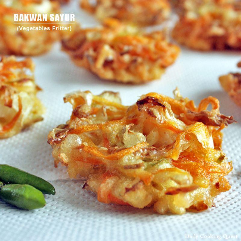 Bakwan Sayur, Indonesian Vegetables Fritters