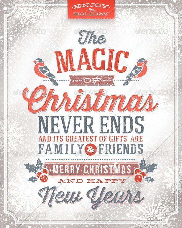Good Vector Christmas Greeting Card