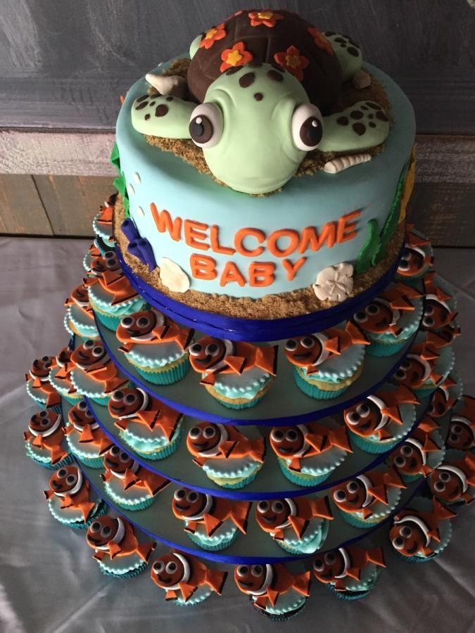 Nemo Baby Shower Cake By Denise Makes Cakes Cakes Pinterest
