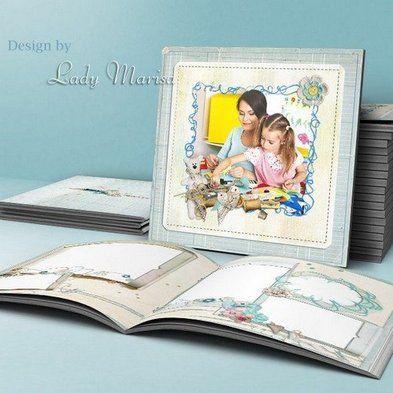 Free baby photo album psd template, childrens psd photobook - Free - free album templates