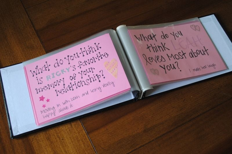 Bachelorette Party Question Book Game