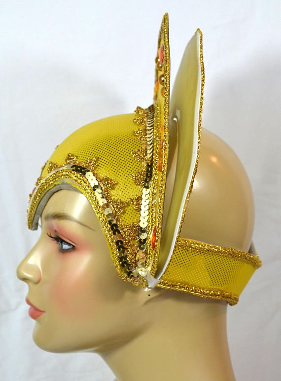 c1b5959f859c3 Skull Cap Hat Base Carnival Headdress Frame Lined Skull Cap For Custom Made  Headdress The crown is made with 2 leaves  the front and the back.