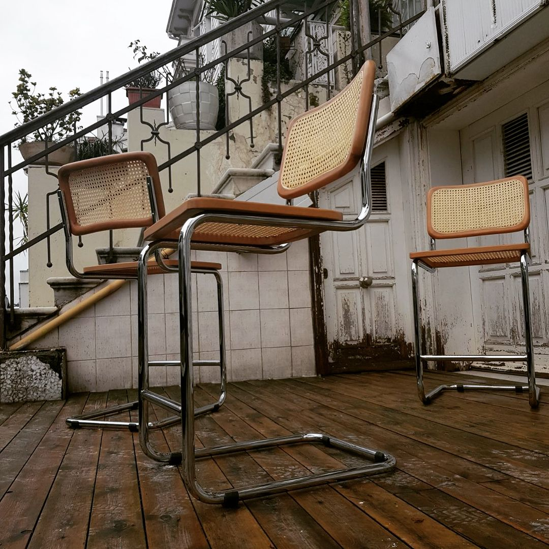 Cesca Bar Sandalyeleri Mutfaktaki Yerinde Wickerist Cescasandalye Cescachair Canechair Hezaren Bar Sandalyeleri Bar Mutfak