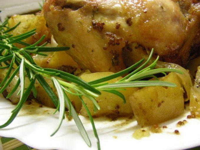 Receita Prato Principal : Frango no forno barrado com mel, mostarda antiga e…