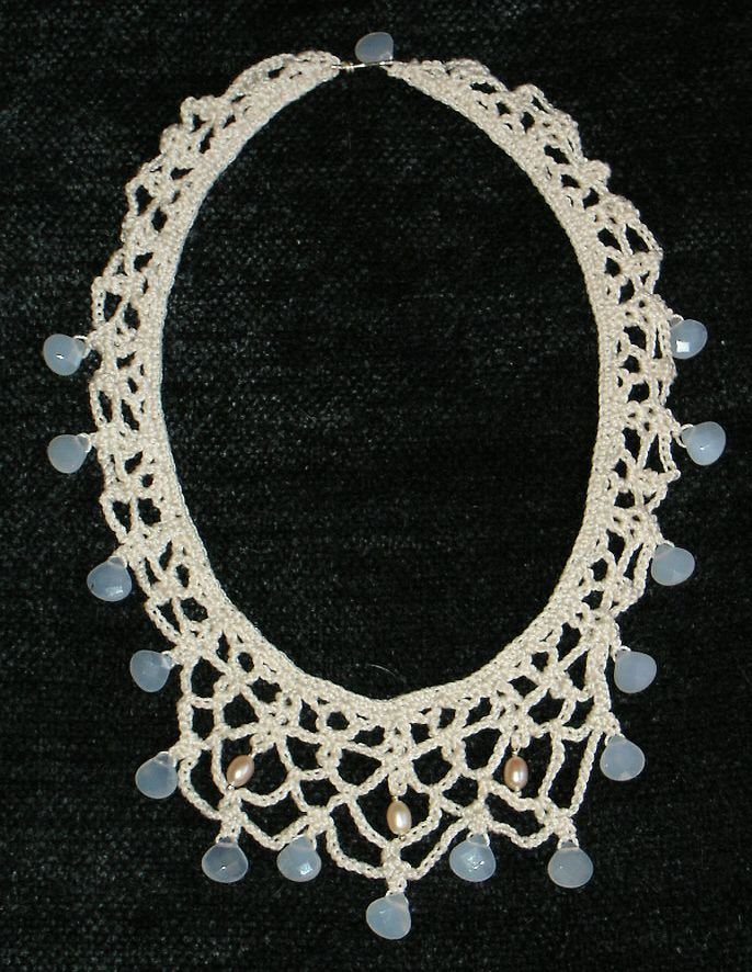 Knitting With Wire And Beads Patterns : Knit and crochet jewelry free patterns necklace
