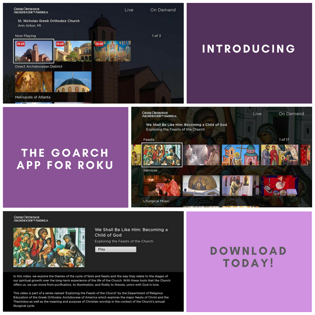 Introducing our newest app, GOARCH for Roku! Watch parish