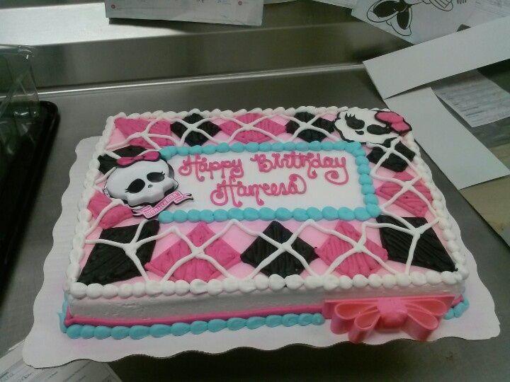 Monster High Sheet Cake