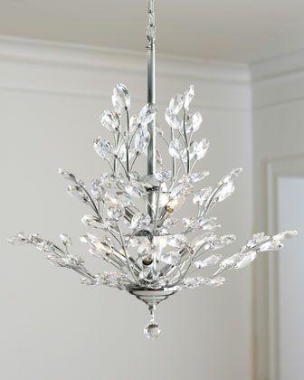Upside Down 9 Light Silver Leaf Chandelier Crystal Chandelier Chrome Chandeliers Traditional Chandelier