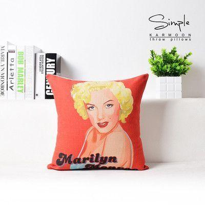 Retro Pop Poster Star Hepburn pillow ,Marilyn Monroe pillow cushion ,Linen pillowcase,home decor decorative Pillows