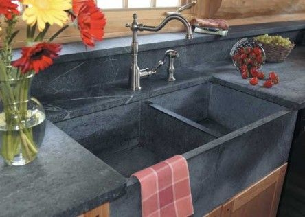 Countertop Sink Backsplash Soapstone Kitchen Soapstone