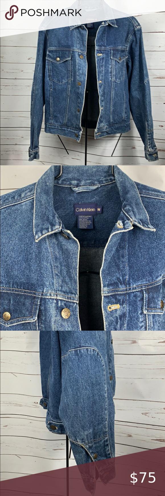 Calvin Klein Vintage Denim Jean Jacket Medium Vtg In 2020 Vintage Denim Jeans Vintage Denim Vintage Denim Jacket