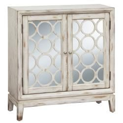 For Accent Table Upstairs Or Something Like This For Bedside Tables  Distressed Vintage White Mirrored Accent Chest   Overstock™ Shopping    Great Deals On ...