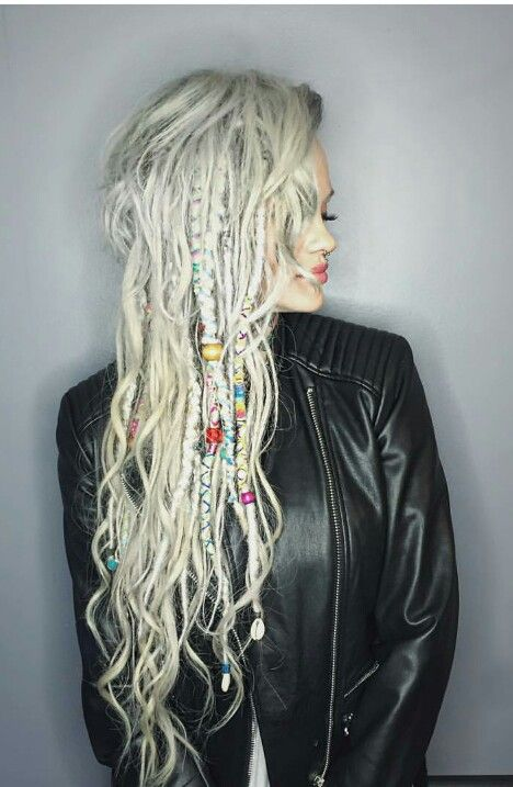 silver braids dreads