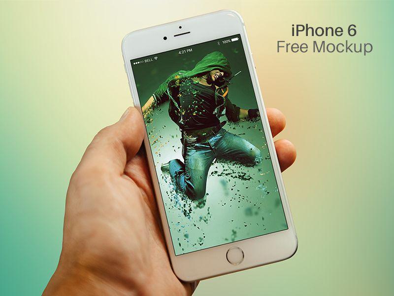 Free Iphone 6 Mockup Psd Free Iphone 6 Iphone Iphone 6