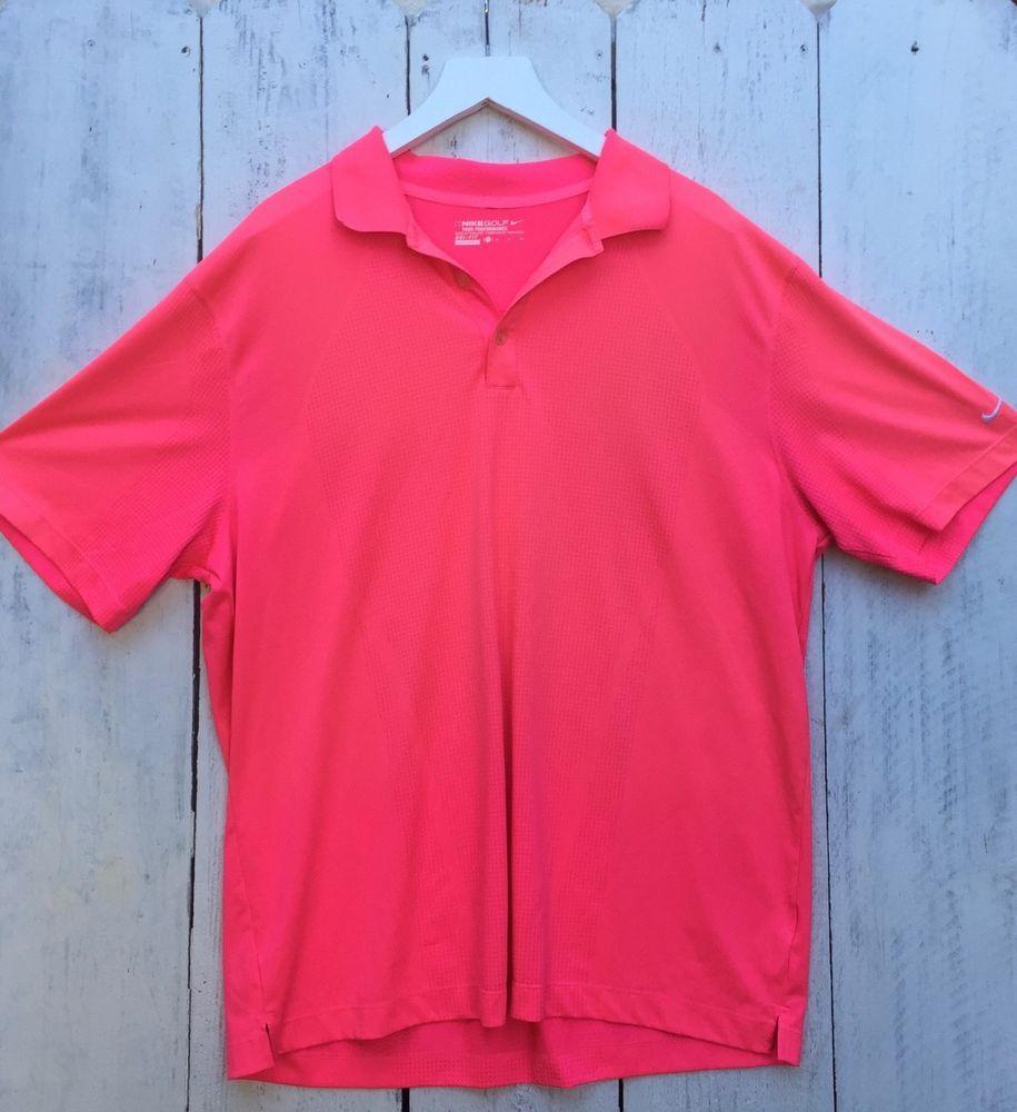 d048c5bb6d3f Nike Golf Tour Performance Dri-Fit Men s XL Short Sleeve Neon Pink Polo  Shirt  fashion  clothing  shoes  accessories  mensclothing  shirts (ebay  link)