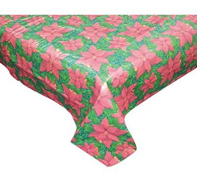 The Holiday Aisle Floral Cheer Round Vinyl Tablecloth