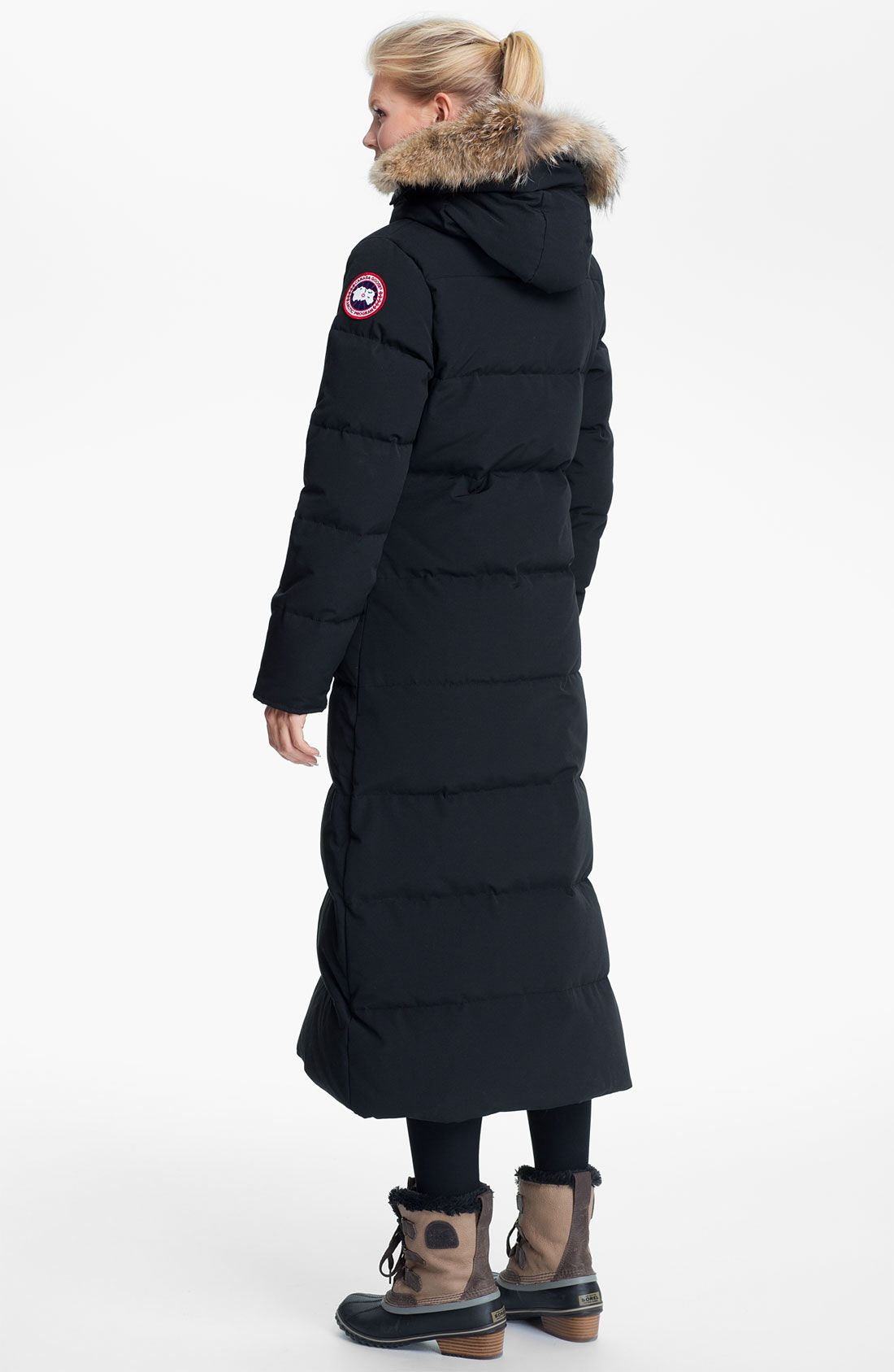 2e9fc5507f285 Canada Goose  Mystique  Regular Fit Down Parka with Genuine Coyote Fur Trim