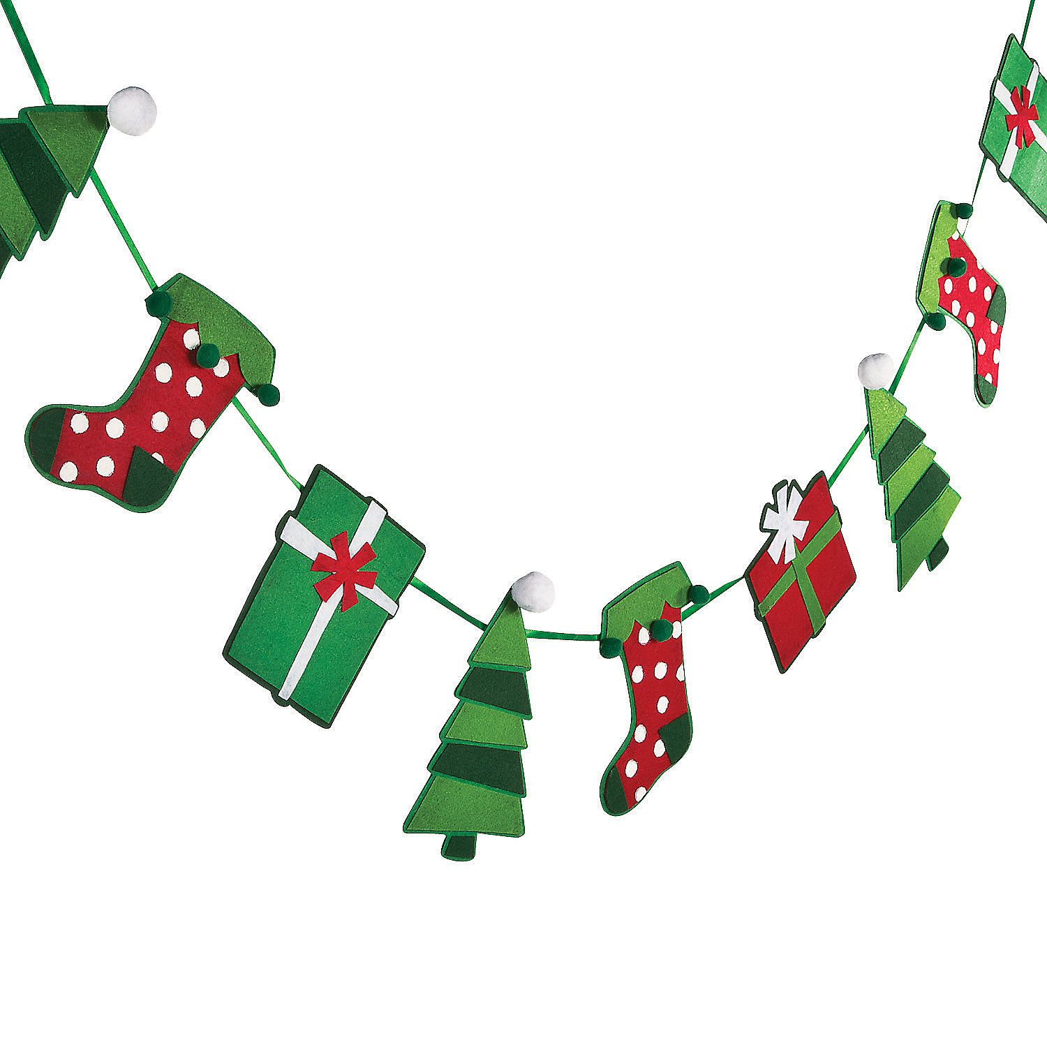 Christmas Shapes Garland Orientaltrading Com With Images Grinch Christmas Decorations Christmas Party Themes Handmade Christmas