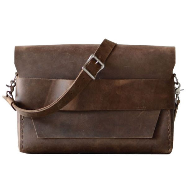 Image result for Brown And Simple Leather laptop Shoulder Bag