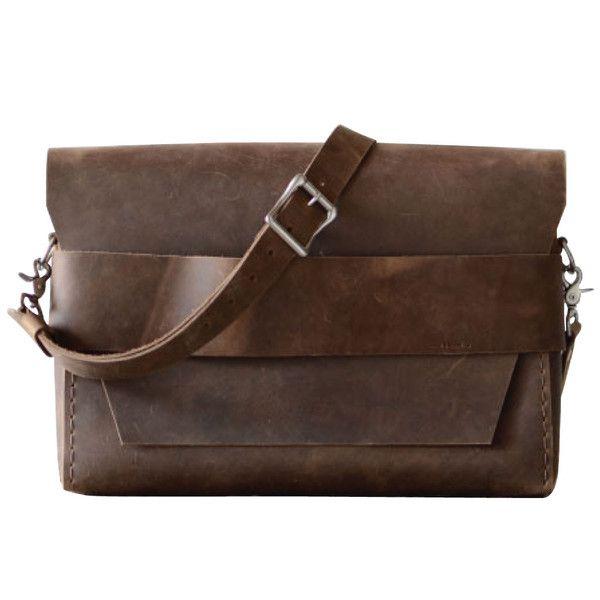 Image result for Brown And Simple Leather laptop Shoulder Bag