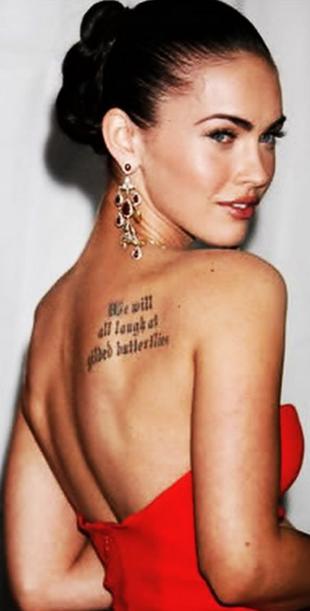 Megan Fox And We Will All Laugh At Gilded Butterflies Pinterest