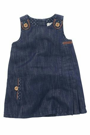 Molde de vestido de jeans