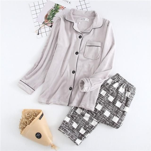 Buy Couples Dots Korean Style Cotton Leisure Pullover Pajamas Set at  Narvay.com. Shop e666c7683