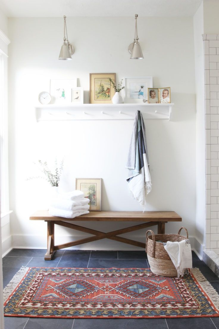 The Grit and Polish - Porch Master Bathroom Bench Large | Decorating ...