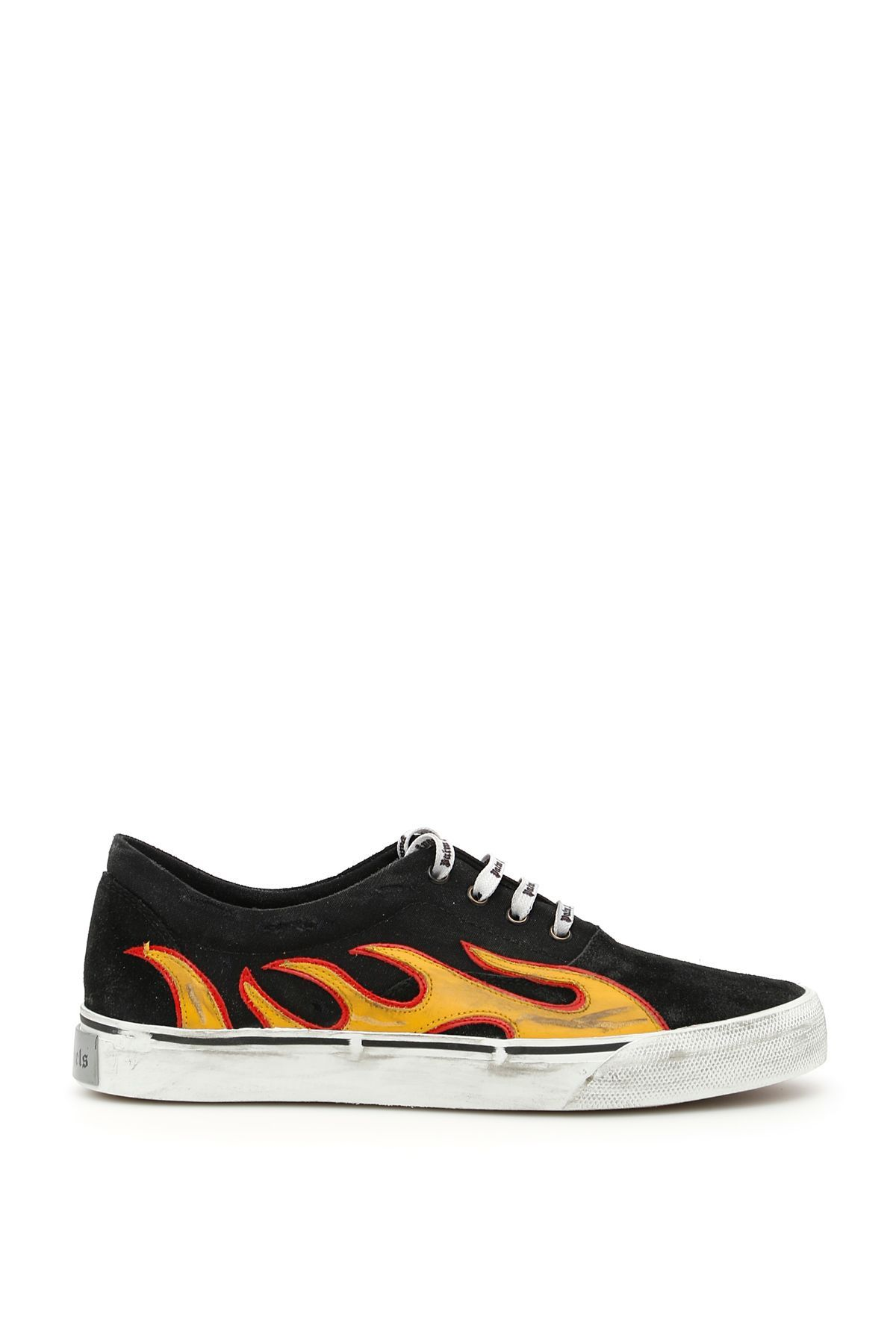 fd5e6ba7150a7 PALM ANGELS DISTRESSED FLAME SNEAKERS. #palmangels #shoes # | Palm ...