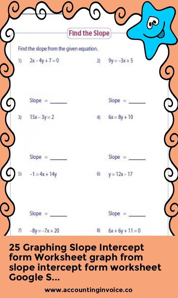 25 Graphing Slope Intercept form Worksheet graph from slope intercept form worksheet Google S