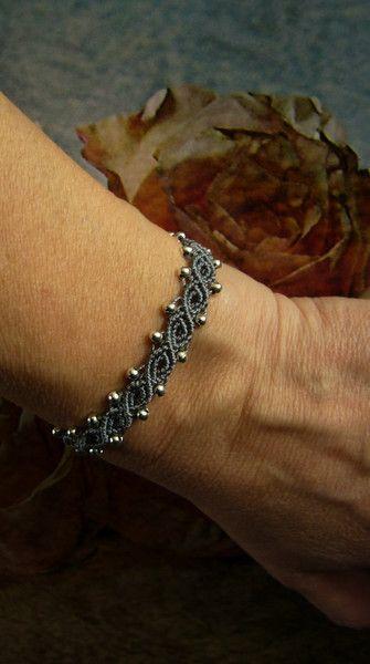 Photo of * Bracelets macramée silver pearls * from crochet.jewels on DaWanda.com