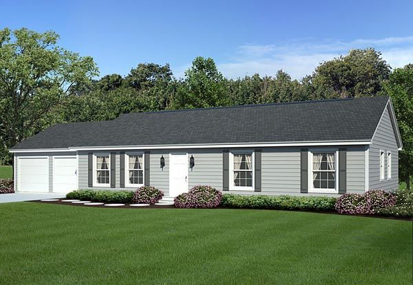 Ranch traditional house plan 34054 ranch traditional house plans and traditional house - Large ranch home plans paint ...