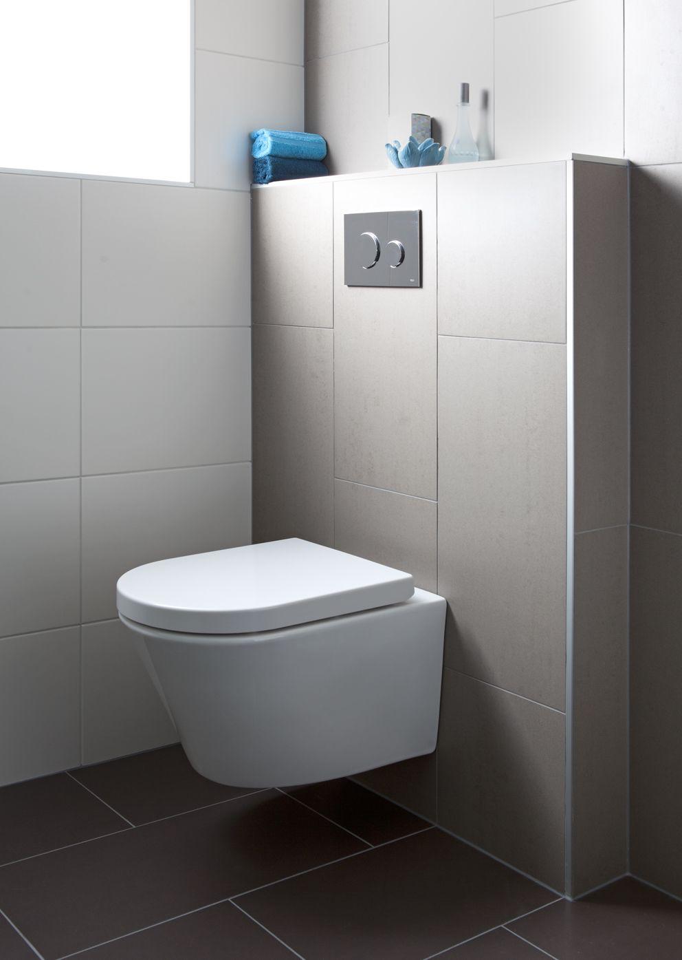 De toiletcombinatie van de All-in badkamer is opgebouwd met Baderie ...