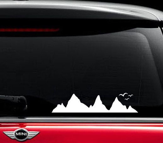 Mountains Car Decal Mountains Truck Sticker Car Birds Mountain - Rear window hunting decals for trucksduck hunting rear window graphics best wind wallpaper hd
