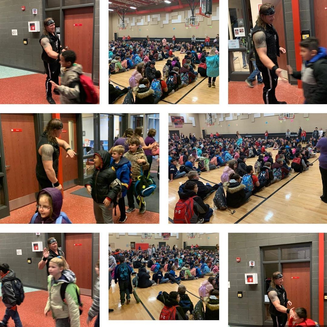 Just wrapped up a media day visit with Liberty Elementary School in Ottumwa IA Great experience to represent both fullthrottleprowrestling and centralempirewrestling as I...